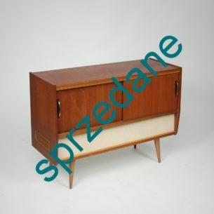 Szafa grająca Moderato z lat 60-tych. Gramofon ze zmieniarką. Fornir tekowy. Rarytas dla kolekcjonera.