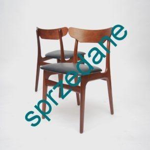 Klasyczne duńskie krzesła. Piękna forma. Produkt lat 50-tych.