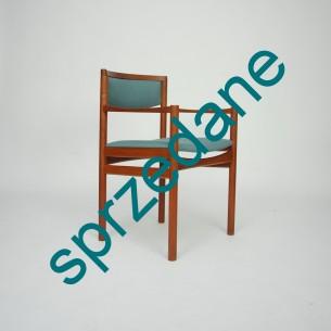 Modernistyczne, tekowe krzesło. Wytwórnia S.A.X. Ciekawy produkt lat 60-tych. Dania