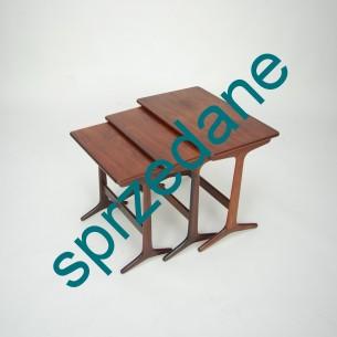 Modernistyczne trojaczki. Design ERLING TORVITZ dla Domus. Drewno palisandrowe. Mebel wysokiej jakości. Produkt duński lat 60/70