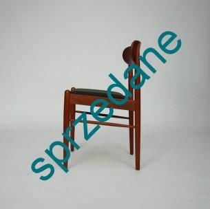 Klasyczne, duńskie krzesło. Drewno tekowe olejowane. Produkt lat 50-tych.