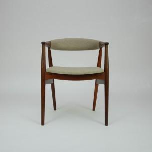 Krzesło z masywu tekowego. Piękna, modernistyczna forma lat 60-tych. Manufaktura Farstrup. Drewno olejowane. Produkt duński.