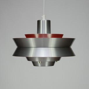 Duńska, modernistyczna lampa z aluminium. Produkt lat 60/70.