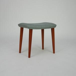 Duńskie siedzisko. Nogi mahoniowe. Produkt duński. Manufaktura ILLUMS BOLIGHUS.