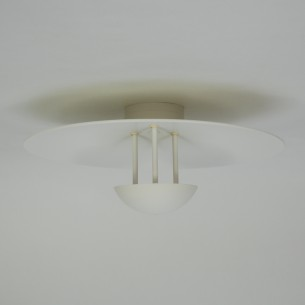Wielka lampa / plafon ze szwedzkiej wytwórni Hans Agne Jakobsson. Sztywny montaż do sufitu. Światło rozproszone przez halogen 100 na duży talerz (gratis halogen 150 w).