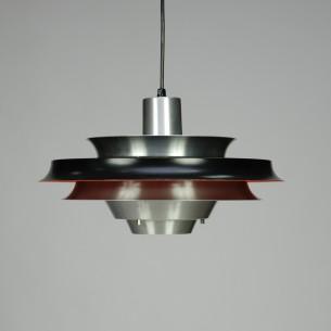 Duńska, modernistyczna lampa z aluminium. Produkt lat 70-80.