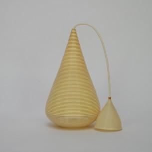 Duńska, organiczna lampa. Subtelna, ale efektowna forma.  Plastik. Oryginał z lat 70-tych.