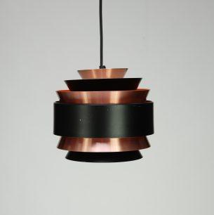 Efektowna, duńska lampa w kolorze miedzi. Aluminium. Projekt lat 60-tych.