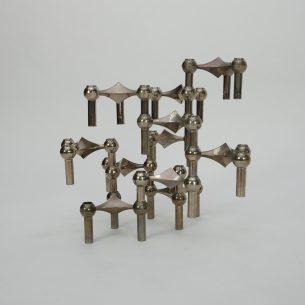 Kultowe świeczniki, FRITZ NAGEL & CEASAR STOFFI dla BMF. Sam tworzysz formę i decydujesz o jej rozmiarach. Zbieranie i powiększenie kolekcji daje wspaniały efekt. Ten zestaw składa się z 11 elementów.