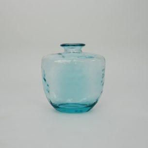 Wazon z grubego szkła. Niebieski.