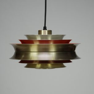 Duńska, modernistyczna lampa z aluminium. Projekt Carl Thor.