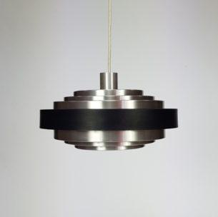 Efektowna, duńska lampa z aluminium. Projekt lat 60/70-tych.