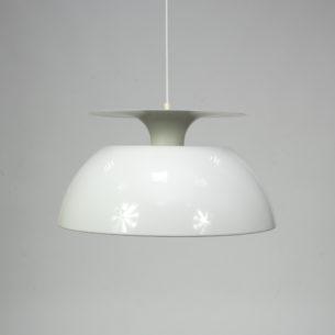 Imponująca, duńska lampa. Projekt J. Hoj'a z roku 1974 dla Holmegaard. Aluminium.