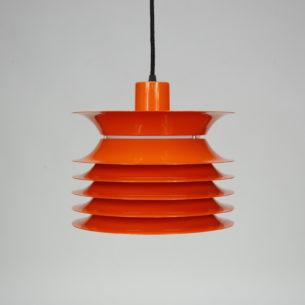 Bardzo ciekawa, pomarańczowa lampa. Aluminium. Na górze plexi. Przewód w oplocie.