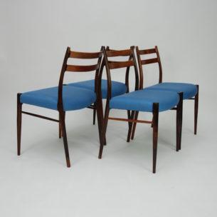 Kwintesencja duńskiego minimalizmu i elegancji. Wybitne stolarstwo. Ultra lekka i efektowna forma. Płynne organiczne przejścia. Lity palisander. Produkt duński lat 60-tych.