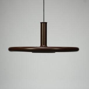Okazała lampa Optima z wytwórni Fog & Morup. Projekt, Hans Due. Całość metalowa. Brązowa. Oryginalny produkt duński lat 70-tych.