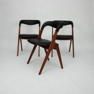 Duńska, minimalistyczna forma z wytwórni Vamø.Wybitny projekt Johannes'a Andersen'a. Drewno afromozji, olejowane. Lata 60-te.